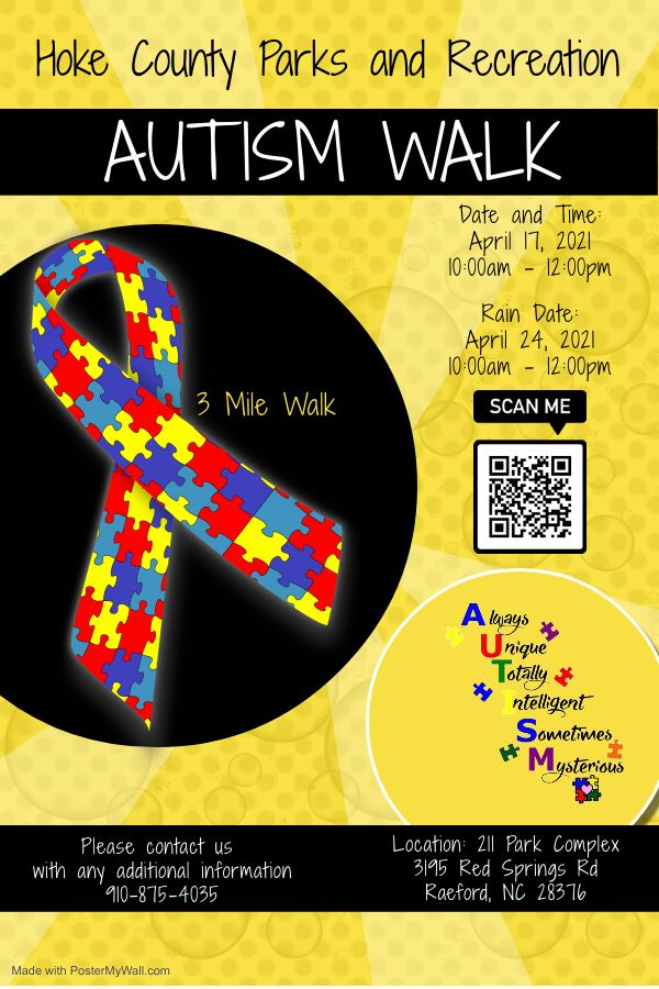 Autism Flyer with QR code